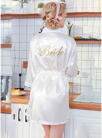 Polyester Bride Embroidered Robes
