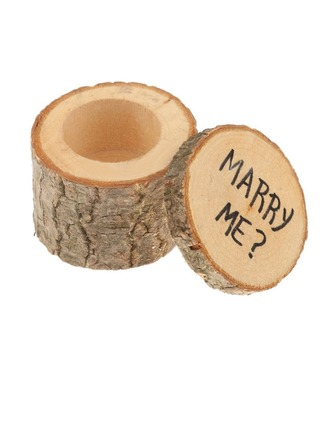 """""""MARRY ME""""/Shabby Rustic Ring Box in Wood (Set of 2)"""