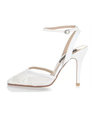 Femmes Dentelle Talon stiletto Sandales Beach Wedding Shoes