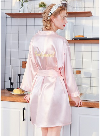 Polyester Bridesmaid Embroidered Robes