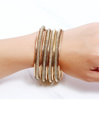 Exquis Alliage Dames Bracelets de mode (Lot de 7)