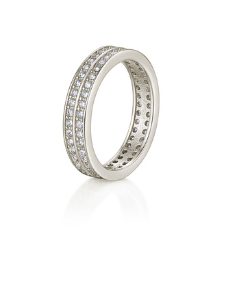 Sterling Silver Cubic Zirconia Stackable Milgrain Round Cut Engagement Rings Promise Rings Stackable Rings -