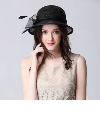 Dames Beau Batiste avec Feather/Bowknot Chapeaux de type fascinator