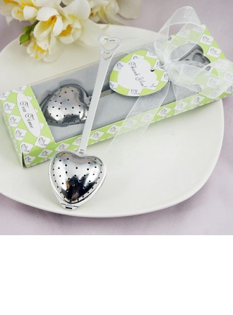"""""""Tea Time"""" Heart Shaped Stainless Steel Tea Infuser With Ribbons/Tag"""