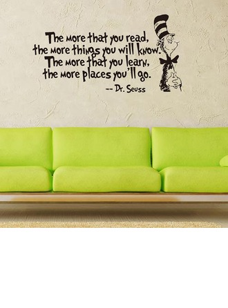 Modern/Contemporary Simple Letter PVC Wall Sticker (Sold in a single piece)