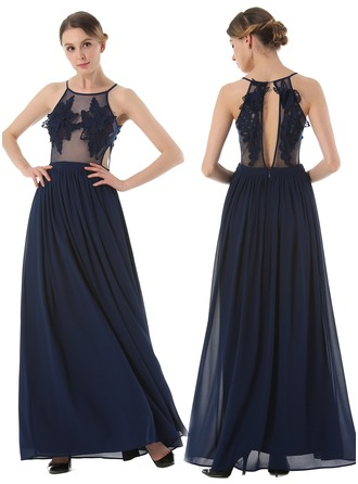 Lace/Chiffon With Embroidery/Hollow Maxi Dress