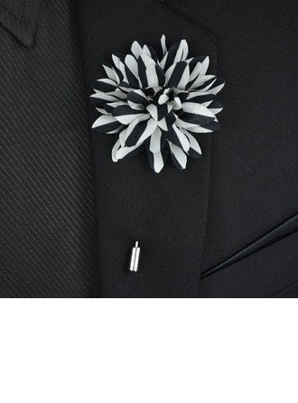 Floral Cuivre Polyester Broche