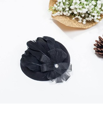 Dames Feather/Fil net Chapeaux de type fascinator