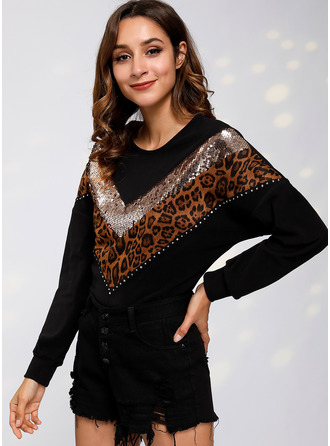 Long Sleeves Cotton Polyester Round Neck Halenky
