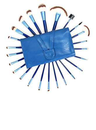 24 Pcs Blue Artificial Fibre Makeup Brush Set With Slap-up Pouch