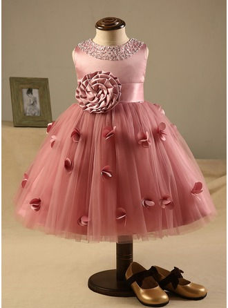 A-Line/Princess Knee-length Flower Girl Dress - Polyester ... - photo#4