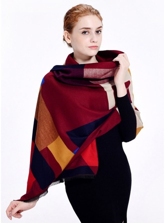 Geometric Print Oversized/Shawls Polyester Scarf