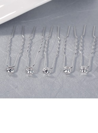 Gorgeous Alloy Hairpins With Crystal (Set of 6)
