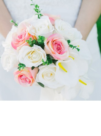 Elegant Round Artificial Silk Bridal Bouquets/Bridesmaid Bouquets