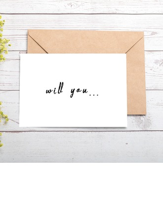 Bridesmaid Gifts - Special Eye-catching Card Paper Wedding Day Card