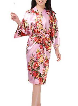 Polyester Flower Girl Floral Robes