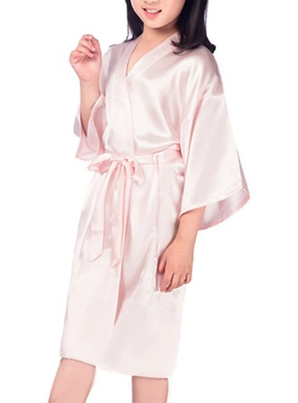 Satin Flower Girl Blank Robes