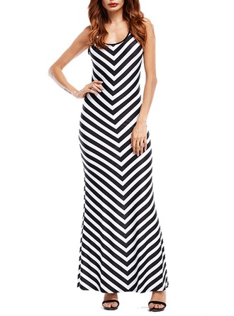 Artificial Fiber With Stitching/Print Maxi Dress