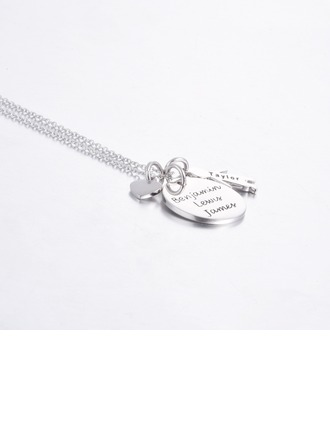 Personalized Ladies' Chic 925 Sterling Silver Name/Engraved/Bar Necklaces For Bridesmaid/For Mother/For Friends/For Couple