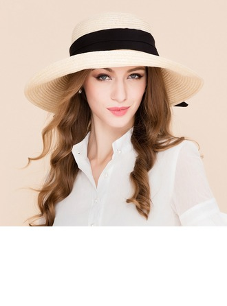 Ladies' Fashion Rattan Straw Straw Hat/Beach/Sun Hats/Kentucky Derby Hats