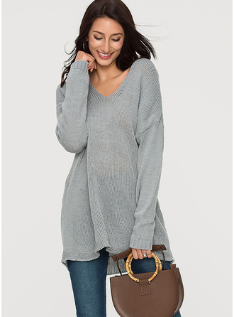 Plain Acrylic Hooded Sweater Sweaters