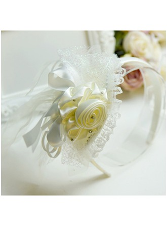 Polyester With Lace/Flower Headbands