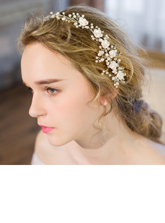 Glamourous Imitation Pearls/Resin Combs & Barrettes/Headbands