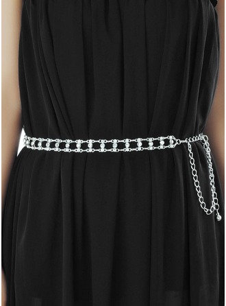 Elegant Alloy Belt With Rhinestones