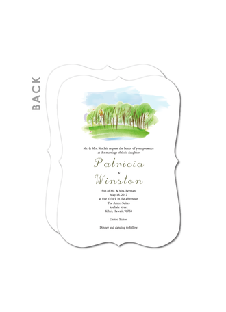 Landscape Painting Wedding Cards