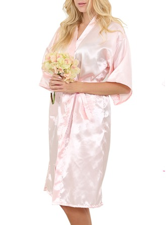 Non-personalized Satin Bride Bridesmaid Blank Robes