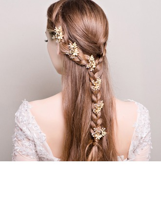 Ladies Lovely Rhinestone/Alloy/Imitation Pearls Hairpins (Set of 6)