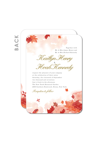 Classic Style/Rustic Style Flat Card Invitation Cards