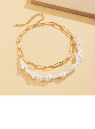 Ladies' Elegant Alloy/Imitation Pearls Imitation Pearls Necklaces For Bridesmaid/For Mother/For Friends