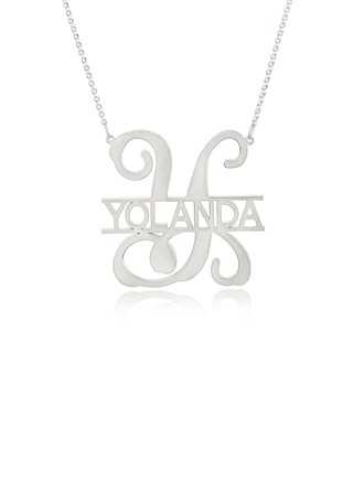 Custom Sterling Silver Monogram Initial Name Necklace