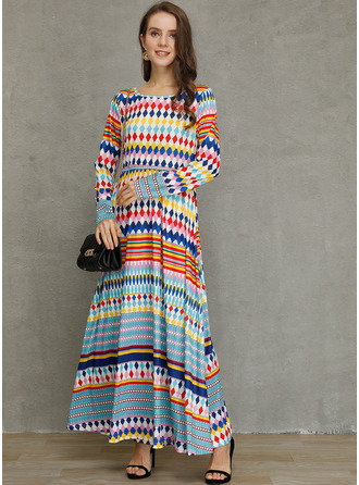 Polyester med Print Maxi Kle