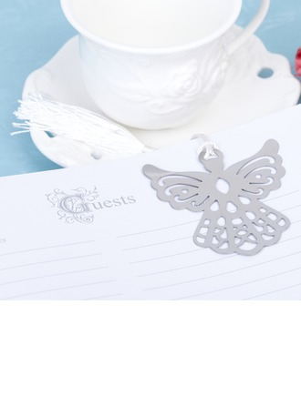 Angel Design Stainless Steel Bookmarks With Tassel