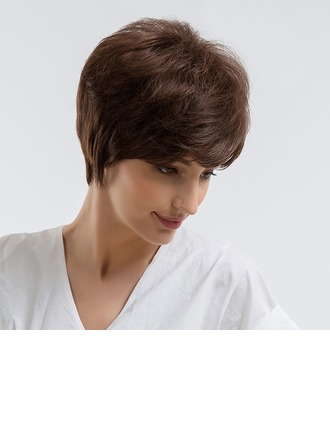 Straight Synthetic Hair Human Hair Wigs