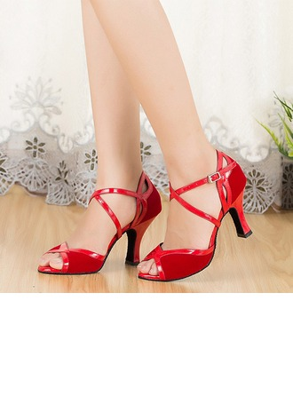 Women's Fabric Sandals Latin Ballroom Salsa Tango With Ankle Strap Dance Shoes