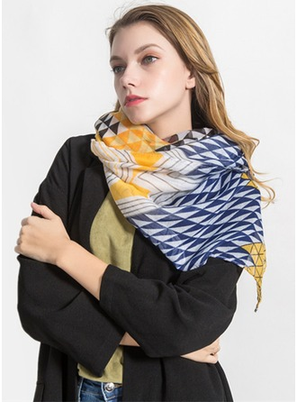 Geometric Print Light Weight/Oversized/fashion Voile Scarf