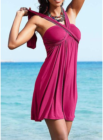 Beautiful Solid Color Beach dress