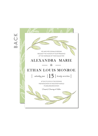 Winsome Leaf Wedding Cards