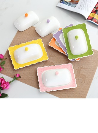 Colorful Porcelain Butter Dish