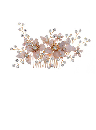 Ladies Beautiful Rhinestone/Imitation Pearls Combs & Barrettes With Rhinestone (Sold in single piece)
