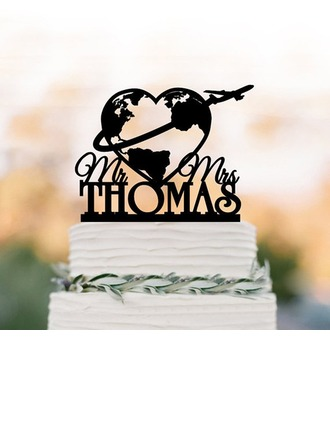 Personalized Love Design Acrylic/Wood Cake Topper