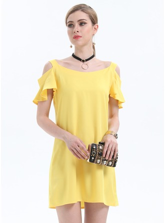 Chiffon With Hollow Above Knee Dress