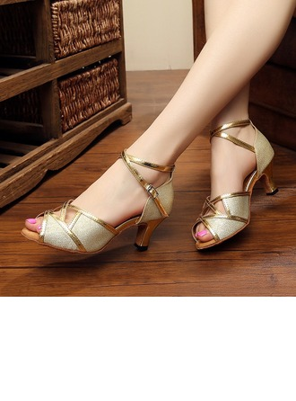 Women's Leatherette Sandals Pumps Latin Dance Shoes