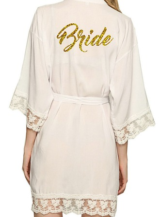 Personalized Bride Bridesmaid Satin With Short Personalized Robes