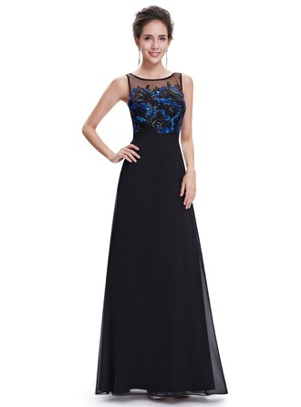 Polyester/Satin/Tulle/Chiffon velvet With Sequins Maxi Dress