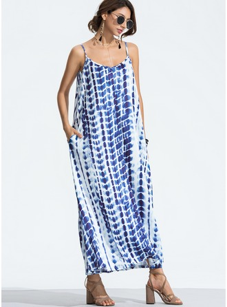 Cotton With Print Maxi Dress