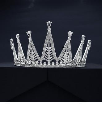 Ladies Beautiful Rhinestone/Alloy Tiaras With Rhinestone (Sold in single piece)
